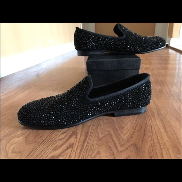 Shoes | Merlutti Sparkly Black Loafers